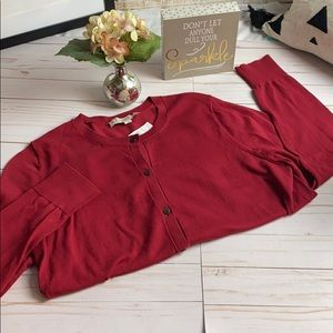 LOFT NEW CARDIGAN! Burgundy SZ large